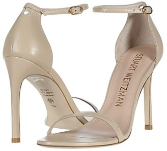 Stuart Weitzman Nudistsong Ankle Strap Sandal (Cappuccino Suede) Women's Shoes