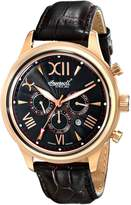 "Ingersoll Men's IN2810RBK ""Haida"" Rose Gold-Plated Automatic Watch with Brown Leather Band"