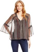 Jessica Simpson Women's Embroidered Peasant Top