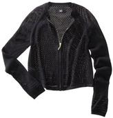 Mossimo Women's Longsleeve Zip-Up Cardigan -Black