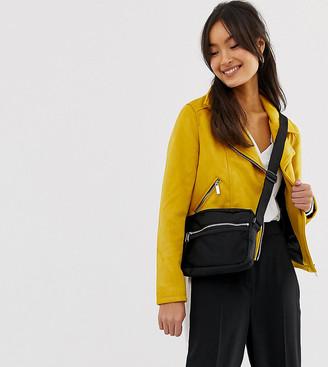 New Look Suedette Biker Jacket-Yellow