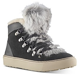 Cougar Women's Dani Waterproof Fur Trim High-Top Sneakers