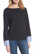 J.Crew Women's Built-In Cuff Stripe Tee