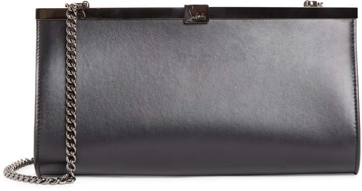 e61186c5a93 Palmette Calfskin Leather Frame Clutch