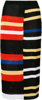 Proenza Schouler striped skirt - women - Cotton/Polyester/Viscose/Polyimide - S