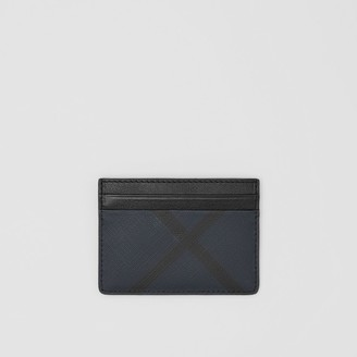 Burberry Check and Leather Card Case