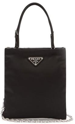 Prada Logo-plaque Chain-strap Nylon Bag - Black