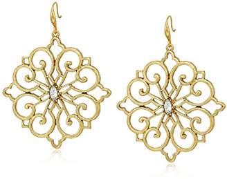 Badgley Mischka Crystal Fillagree Drop Earrings