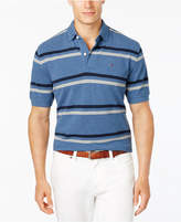 Tommy Hilfiger Men's Big & Tall Classic-Fit River Stripe Pique Knit Polo