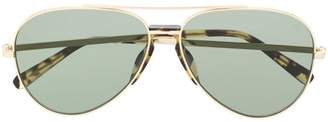 Brioni tortoiseshell aviator sunglasses