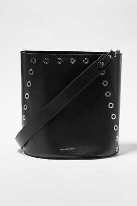 French Connection Esi Recycled Leather Studded Bucket Bag