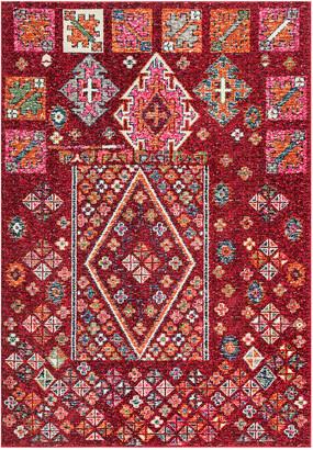 nuLoom Tyesha Tribal Diamonds Rug