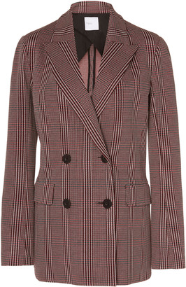 Rosetta Getty Checked Stretch-Crepe Blazer