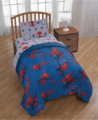 Marvel Mavel Spiderman Spidey Crawl Full Comforter Bedding
