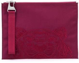 Kenzo Logo-Embroidered Clutch Bag