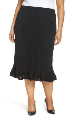 Ming Wang Ruffle Hem Skirt