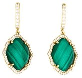 Frederic Sage Tivoli Malachite & Diamond Drop Earrings