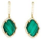 Frederic Sage Tivoli Malachite & Diamond Drop Earrings