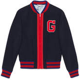 Gucci Felt bomber jacket with G