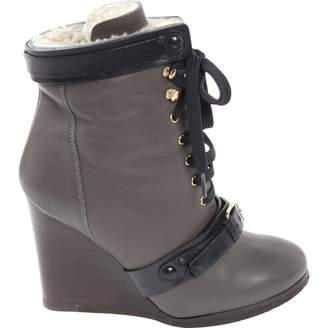 Chloé \N Grey Leather Ankle boots