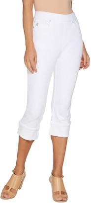 Belle By Kim Gravel Flexibelle Pull-On Cuffed Capri Jeans