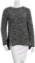Elizabeth and James Scoop Neck Cable Knit Sweater