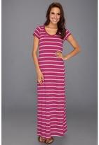Stetson 8623 Feeder Stripe Maxi Dress (Pink) - Apparel