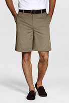 Lands' End Young Men's Cotton Plain Front Chino Shorts-Khaki