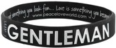 Peace Love World I am Gentleman® Black Silicone Bracelet