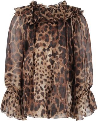 Dolce & Gabbana Animalier Print Girl Shirt