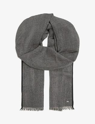 Saint Laurent Glitter stripe cashmere-blend scarf