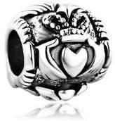 Pugster Plated Irish Claddagh Friendship & Love Bead Fits Pandora Charms Bracelet