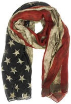 Riah Fashion American Flag Scarf