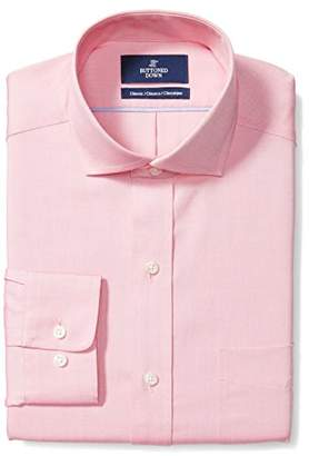 Buttoned Down Men's Classic Fit Cutaway-Collar Non-Iron Dress Shirt (Pocket),(Satisfaction Guaranteed)