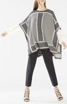 BCBGMAXAZRIA Jayde Knit Jacquard Poncho Sweater