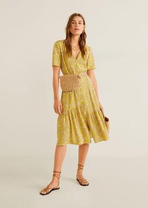 MANGO Floral print dress yellow - 2 - Women