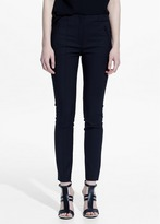 Mango Outlet Zip Cotton Trousers