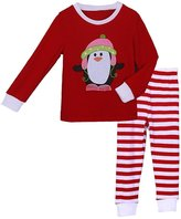 Pettigirl Girls 2 Piece Clothing Set Penguin Striped Pajamas 5 Years