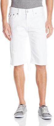 True Religion Men's Ricky Short W Flap in Optic White 28