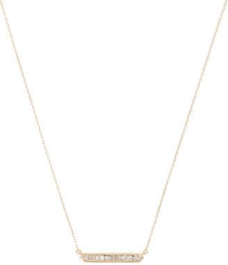 Adina Diamond Baguette Bar Necklace