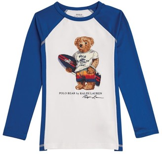 Ralph Lauren Kids Surfer Bear Stretch Rash Guard T-Shirt (2-4 Years)