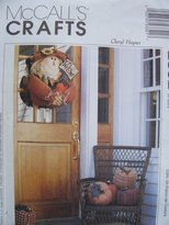 Mccall's Crafts 2332 Pattern Scarecrow Door Hanging And Pumpkin by