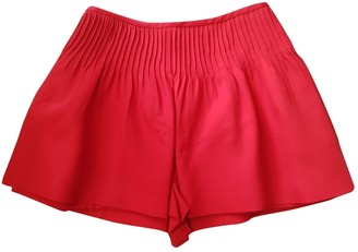 Valentino Red Wool Shorts for Women