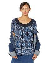 Lucky Brand Women's Crochet Short Sleeve TEE