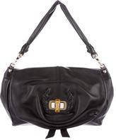 Nina Ricci Leather Flap Handle Bag