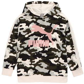 Puma Glitter Logo Pullover Hoodie