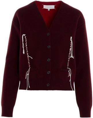 Maison Margiela Contrast Stitching Cardigan