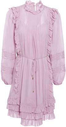 Zimmermann Lattice-trimmed Ruffled Georgette Mini Dress