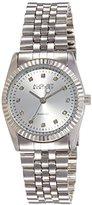 August Steiner Women's AS8046SS Diamond Stainless Steel Bracelet Watch