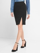 Softspun knit pencil skirt
